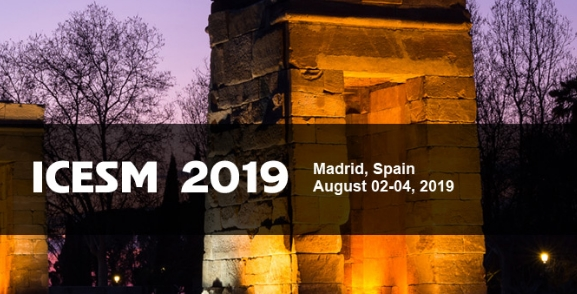 2019 The 6th International Conference on Economics, Society and Management (ICESM 2019), Madrid, Comunidad de Madrid, Spain