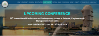 20th International Conference on Contemporary issues in Science, Engineering & Management (ICCI-SEM)