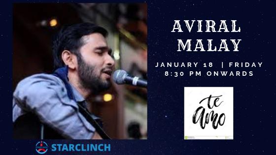 Aviral Malay- Performing Live at 'TE AMO' ANSAL PLAZA, South Delhi, Delhi, India
