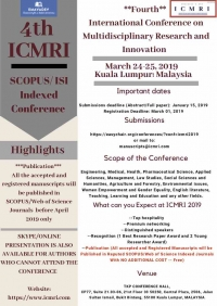 SCOPUS/Web of Science Indexed Publication Conference on Multidisciplinary Research and Innovation