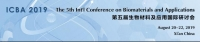 The 5th Int'l Conference on Biomaterials and Applications (ICBA 2019)