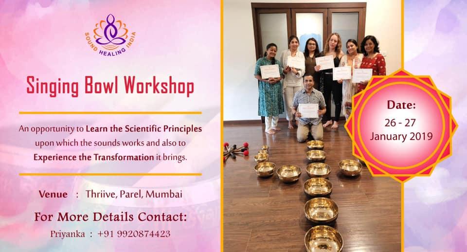 SINGING BOWL WORKSHOP - Sound Therapy Workshop, Mumbai, Maharashtra, India