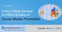 3-Hour Virtual Seminar on FDA's Scrutiny of Social Media Promotion