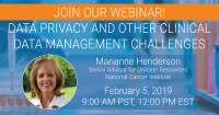 WEBINAR ON DATA PRIVACY AND OTHER CLINICAL DATA MANAGEMENT CHALLENGES
