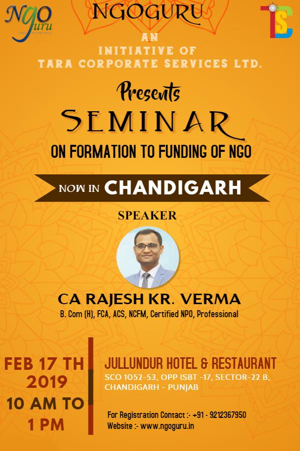 NGOguru Seminar on Formation to Funding of NGO, Chandigarh, India
