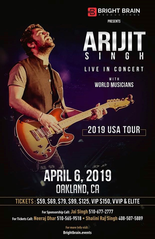 Arijit Singh Live in Concert 2019 Bay Area, Oakland, CA,California,United States