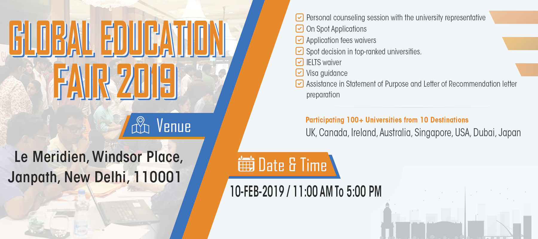 Global Education Fair 2019, New Delhi, Delhi, India