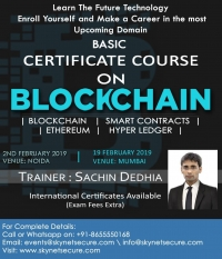 Certificate course on Blockchain