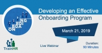 Developing an Effective Onboarding Program