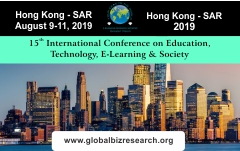 15th International Conference on Education, Technology, E-Learning & Society, Hong Kong, Hong Kong