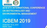 2019 9th International Conference on Biotechnology and Environmental Management (ICBEM 2019)