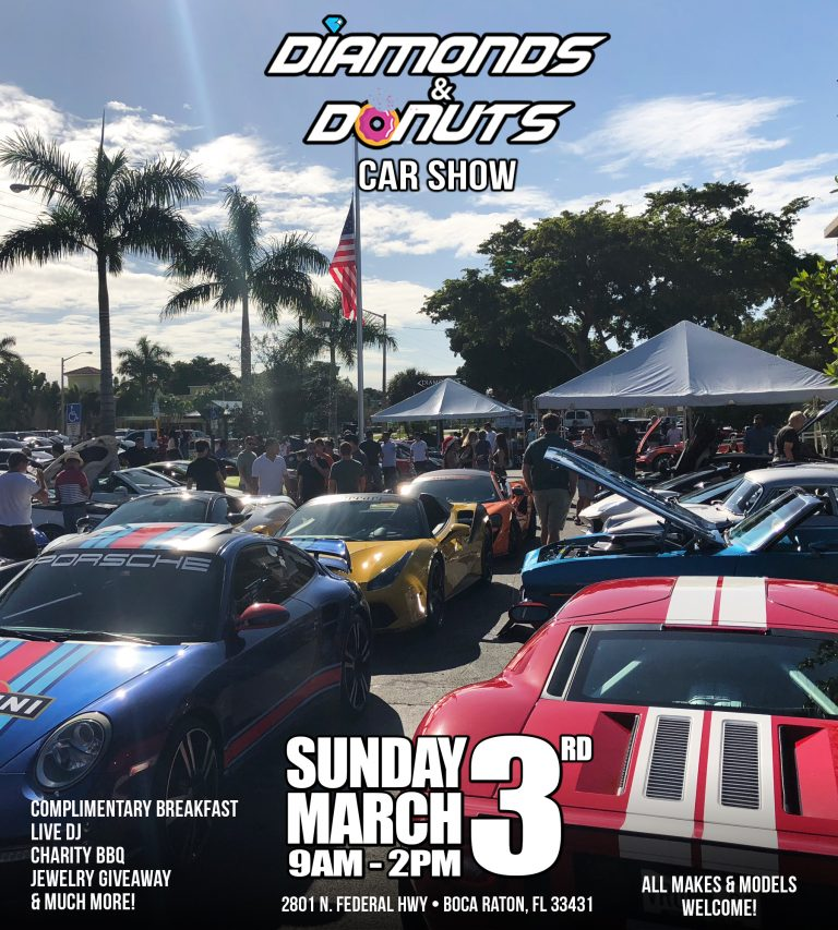 Diamonds & Donuts Car Show March 3rd, Palm Beach, Florida, United States