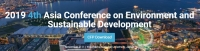 2019 4th Asia Conference on Environment and Sustainable Development (ACESD 2019)