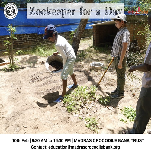Zookeeper for a Day 2019 - Entryeticket, Chennai, Tamil Nadu, India