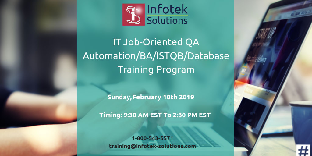 IT Job-Oriented QA Automation BA/ISTQB/Database Training Program, Fairfax, Virginia, United States