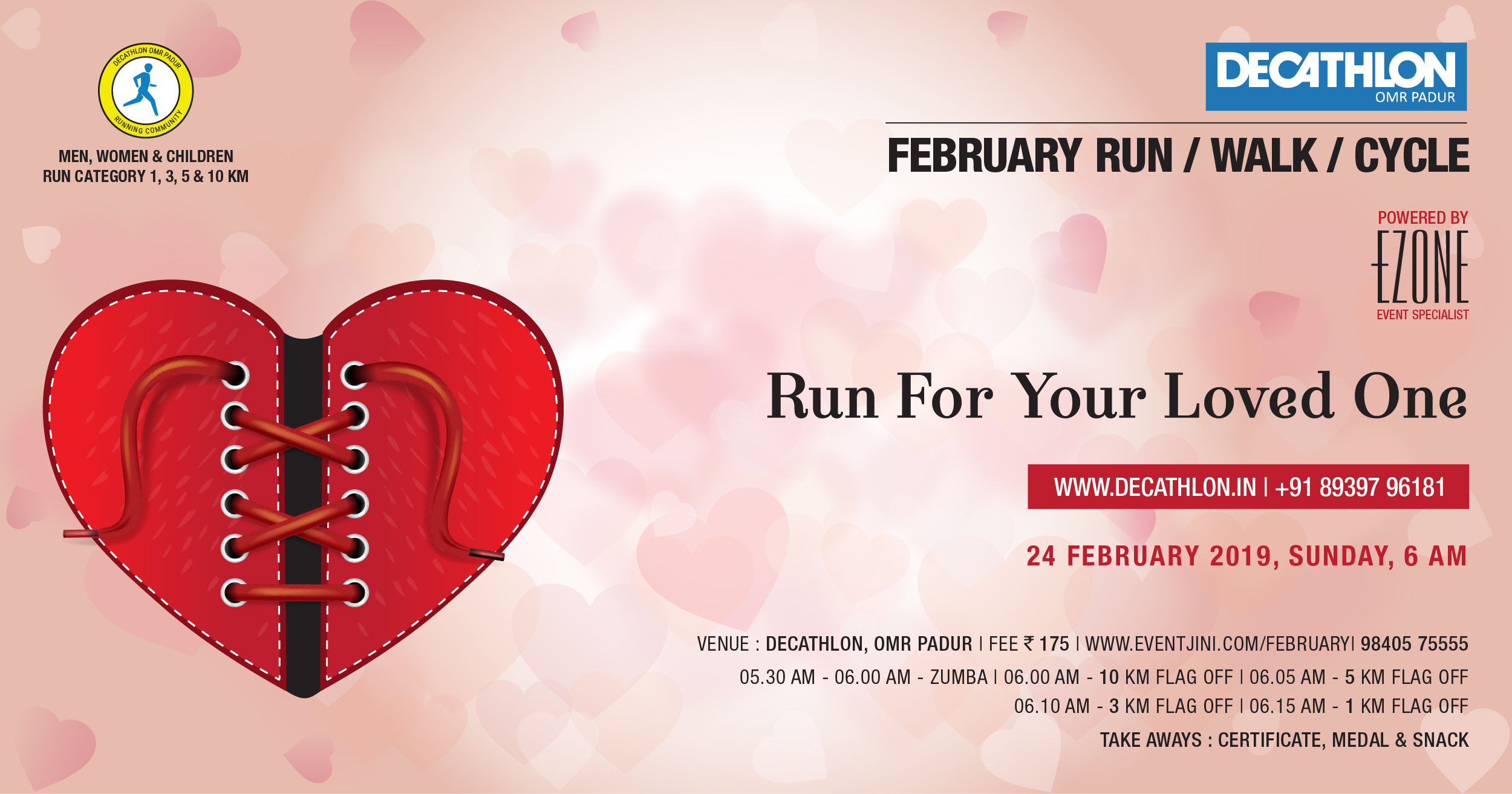 Decathlon Run Series - Run For Your Loved One, Chennai, Tamil Nadu, India