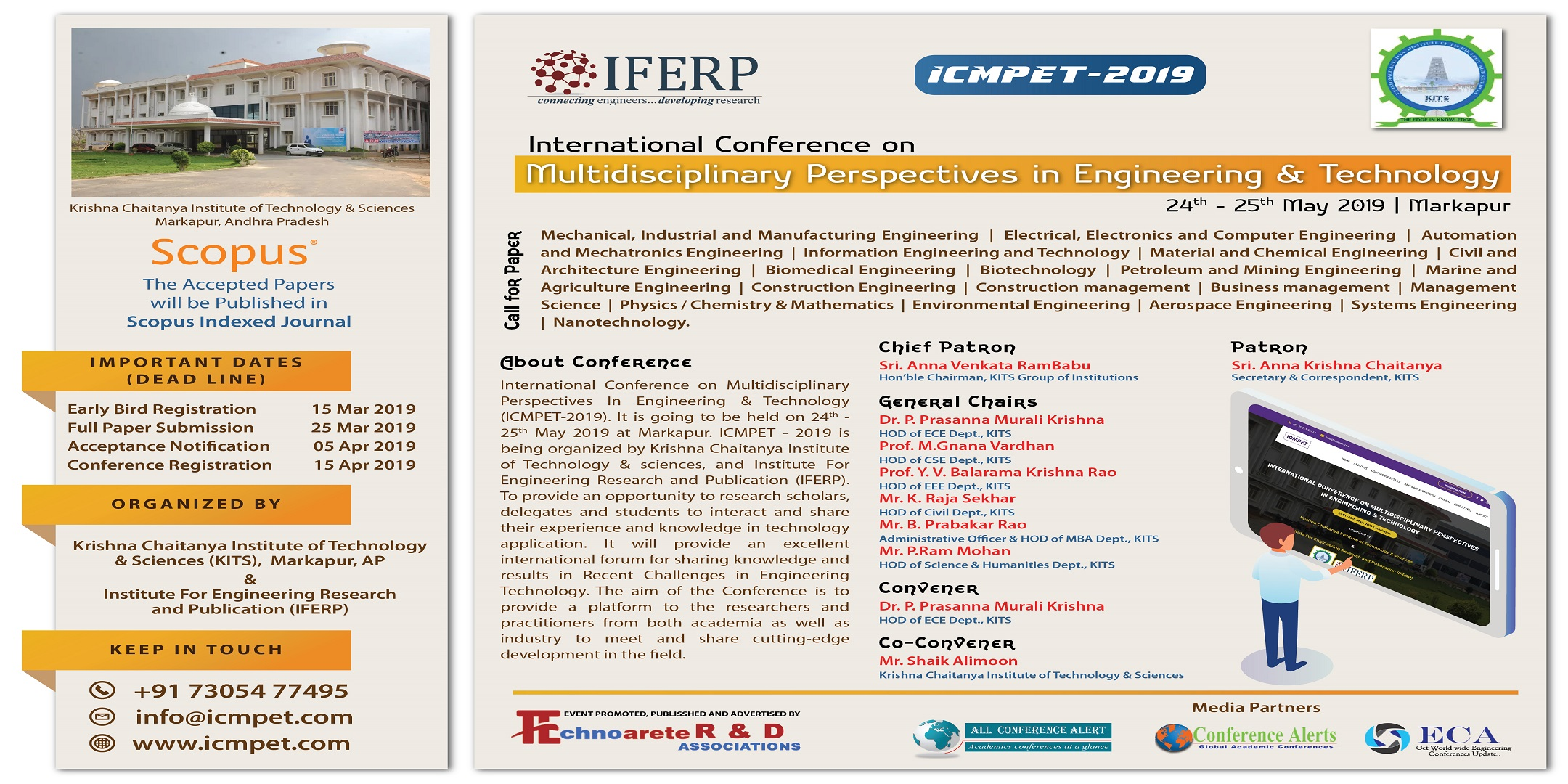 "International Conference on ""Multidisciplinary Perspectives in Engineering & Technology"", Prakasam, Andhra Pradesh, India"