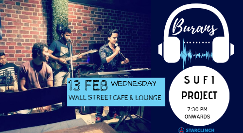 Burans - Performing Live at Wall Street Cafe Lounge, Central Delhi, Delhi, India