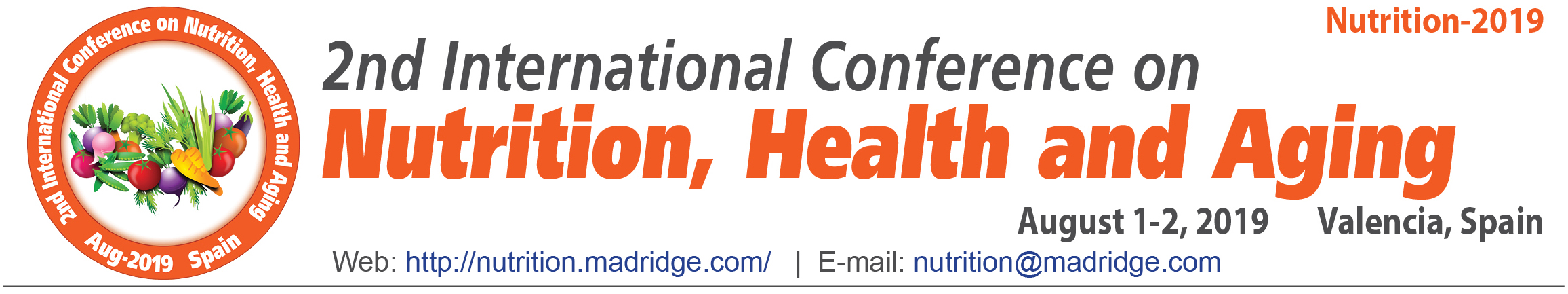 2nd International Conference on Nutrition, Health and Aging, Valencia, Spain, Spain