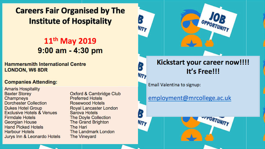 Careers Fair Organised by the Institute of Hospitality, Centre London, London, United Kingdom