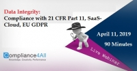 Data Integrity: Compliance with 21 CFR Part 11