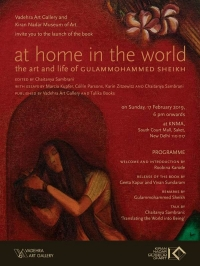 Kiran Nadar Museum of Art invites you to the book launch At Home In The World The Art and Life of Gulammohammed Sheikh