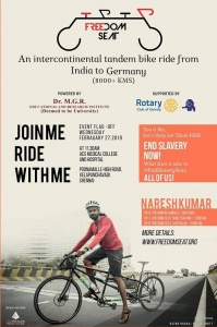 Join with Naresh in a Tandem bike from India to Germany to EndSlaveryNow