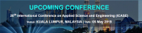 20th International Conference on Applied Science and Engineering (ICASE)