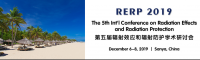 The 5th Int'l Conference on Radiation Effects and Radiation Protection (RERP 2019)