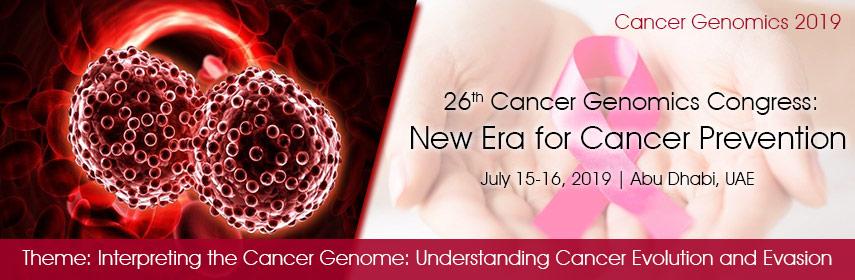 Cancer Genomics 2019, Abu Dhabi, United Arab Emirates