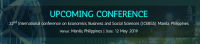 22nd International conference on Economics, Business and Social Sciences (ICEBSS)