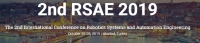 2019 The 2nd International Conference on Robotics Systems and Automation Engineering (RSAE 2019)