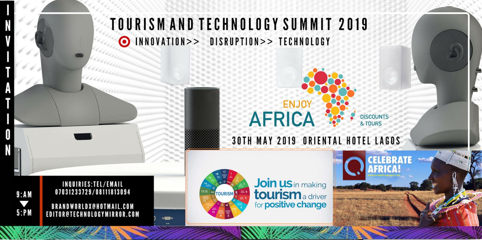 TOURISM AND TECHNOLOGY SUMMIT 2019, Lagos, Nigeria