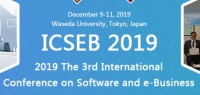 2019 The 3rd International Conference on Software and e-Business (ICSEB 2019)