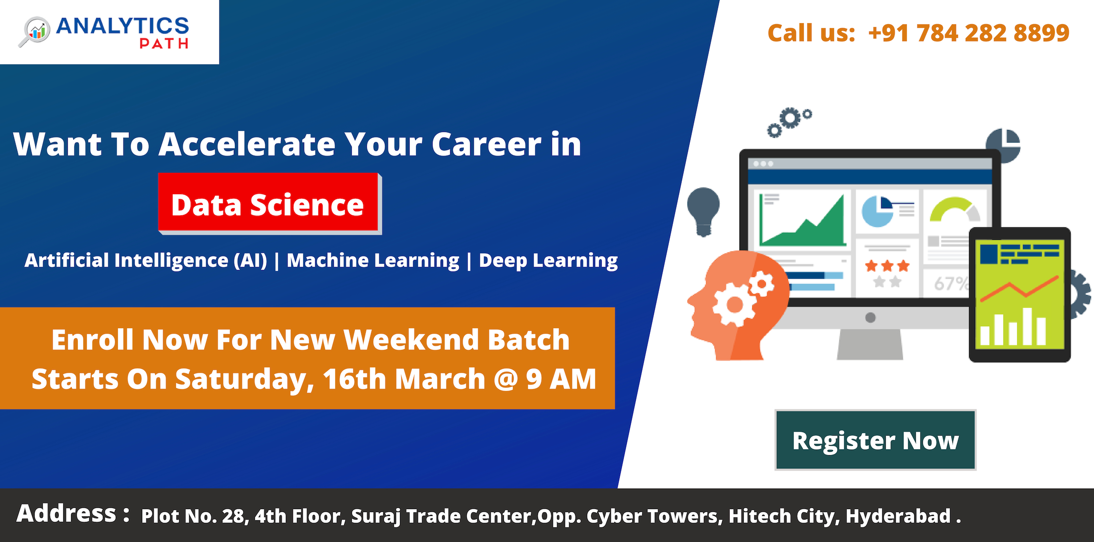 Enroll For Free Workshop Session On Data Science Training-Attended By Experts In Analytics Path Scheduled On 16th March, 9 AM, In Hyderabad, Hyderabad, Telangana, India