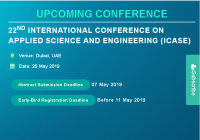 22nd International Conference on Applied Science and Engineering (ICASE)