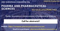 3rd European Congress on Pharma and Pharmaceutical Sciences