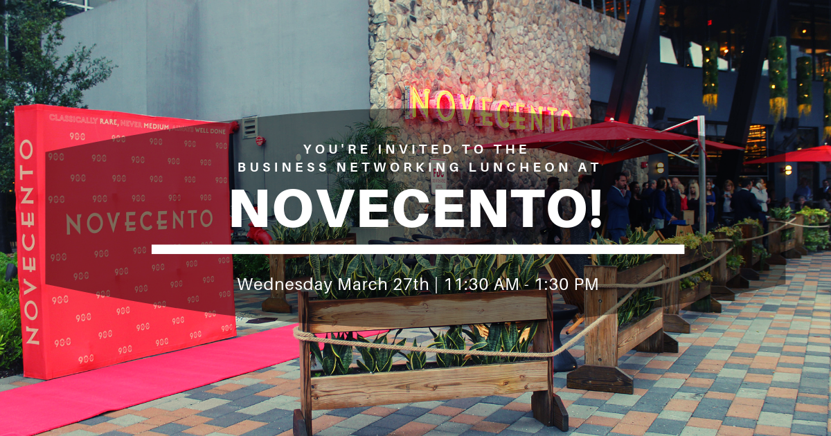 Doral Chamber of Commerce Business Networking Luncheon at Novecento Doral, Miami-Dade, Florida, United States