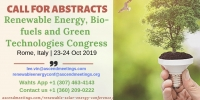 Renewable Energy, Bio-fuels and Green Technologies Congress