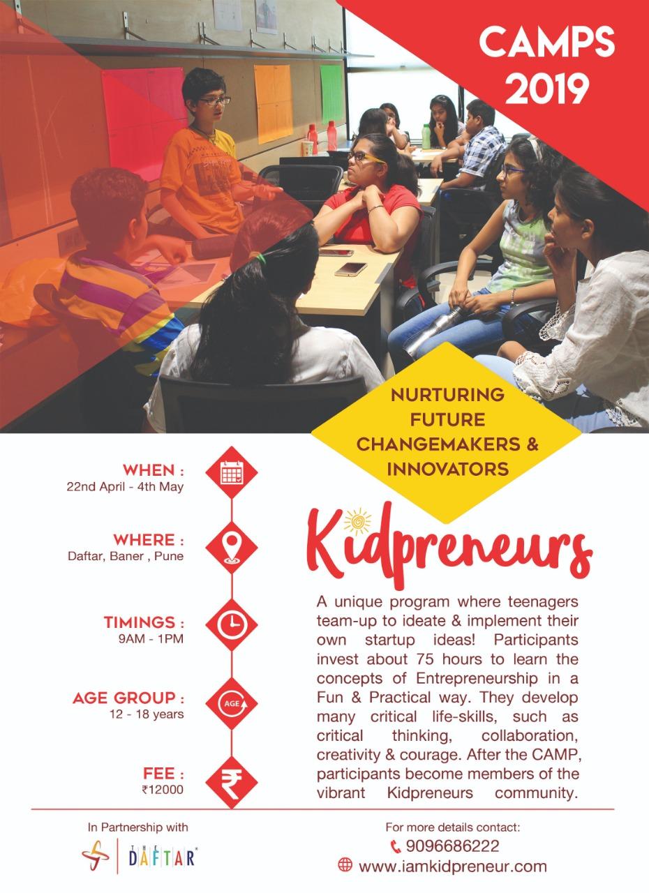 Kidpreneurs Camp, Pune, Maharashtra, India