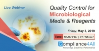 Quality Control for Microbiological Media and Reagents