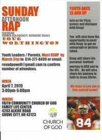 Sunday Rap at the Roundabout with former OSU/NFL player Doug Worthington
