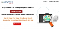 Enter Into The World Of Data Science By Attending The New Weekend Batch Session By Analytics Path Scheduled On 30th March, 9 AM In Hyderabad.