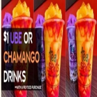 ALL DAY $1 Ube or Chamango Dessert Drinks Party at Tea Spots West Covina!