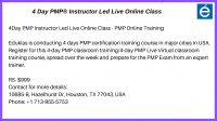 PMP live online Class - PMP Exam