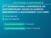 24th International Conference on Contemporary issues in Science, Engineering & Management (ICCI-SEM)
