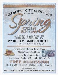 Crescent City Coin Club Spring Coin Show