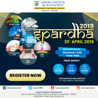 SPARDHA 2019 Inter College Management Fest is to be Organised on April 20,2019