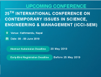 25th International Conference on Contemporary issues in Science, Engineering & Management (ICCI-SEM)