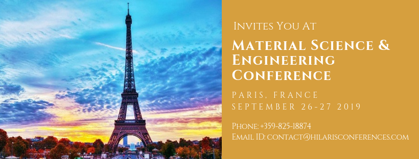 Material Science & Engineering Conference, Paris, France